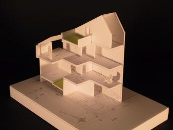 2世帯住宅計画 基本構想 模型写真