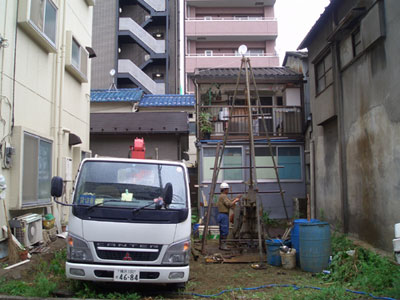 地質調査/地下室/都市型住宅/狭小敷地/KT-HOUSE